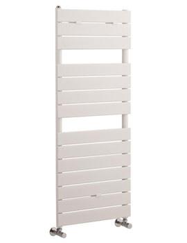 Flat Panel White Towel Rail 500x1213mm - HLW35