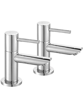 Ivo Pair Of Basin Pillar Taps - IV12