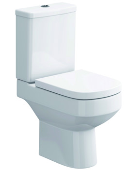 Flite Close Coupled WC Bowl With Dual Flush Cistern 635mm