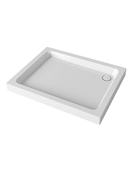 Flight 4 Upstand Rectangle Shower Tray With Waste 1000x800mm