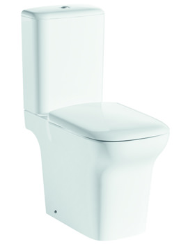 Grace Open-Back Close Coupled WC Bowl With Cistern And Seat 650mm