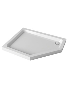 Mira Flight Left Hand Pentagon Shower Tray With Waste 1200 x 900mm