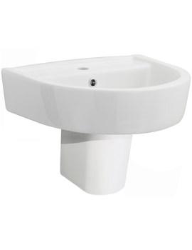Lauren Provost 420mm 1 Tap Hole Basin And Semi Pedestal
