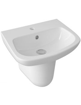 Lauren Ambrose 450mm 1 Tap Hole Basin And Semi Pedestal