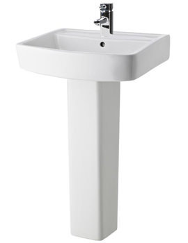 Related Ultra Mercury 520mm 1 Tap Hole Basin And Full Pedestal - CMY001