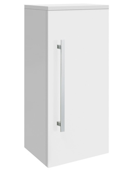 Design High Gloss White Wall Mounted Cupboard 350mm - CAB162