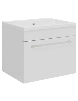 Related Ultra Design 500 Compact White Wall Hung Single Drawer Unit And Basin