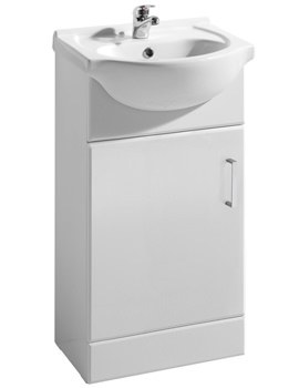 Ultra Beaufort High Gloss White 450 Basin And Cabinet - FMV001