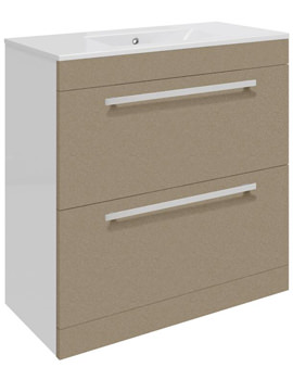 Related Ultra Design Caramel Floor Mounted 2 Drawer Unit And Minimalist Basin 800mm
