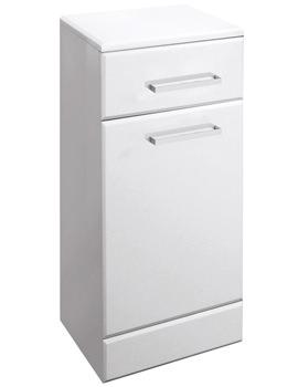 Ultra Marvel-Beaufort High Gloss White Laundry Basket 350 x 766 x 300mm