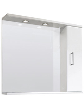 Related Ultra Beaufort High Gloss White 850mm Mirror Cabinet - FMV005M