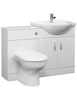 Ultra Bromley High Gloss White Furniture Pack With Standard Basin
