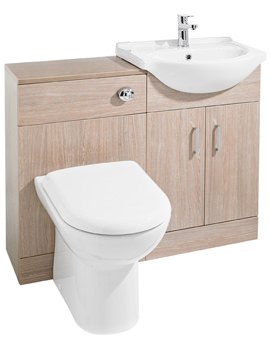 Ultra Bromley Light Oak Furniture Pack With Standard Basin - FBR002