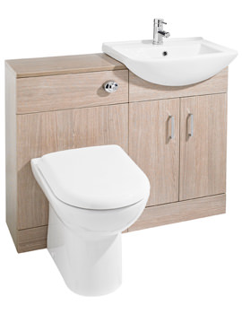 Ultra Madison Light Oak Furniture Pack With Minimalist Basin