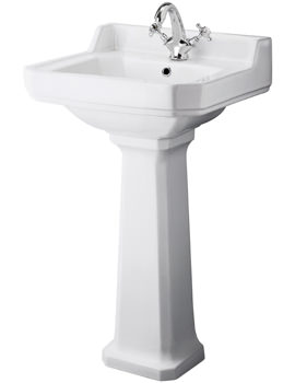 Related Ultra Lewiston 560mm 1 Tap Hole Basin And Full Pedestal - CLE560A
