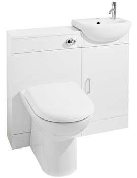 Ultra Portland High Gloss White Cloakroom Furniture Pack - FPT001