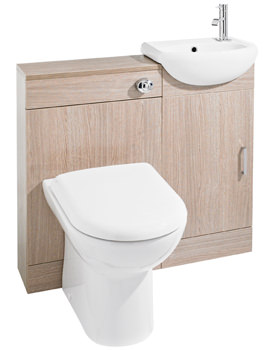 Ultra Portland Light Oak Cloakroom Furniture Pack - FPT002