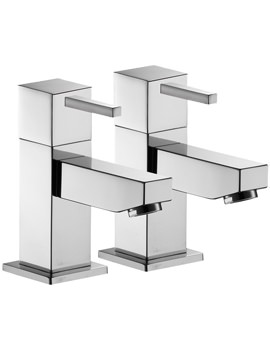 Sq2 Pair Of Basin Pillar Taps - SQ12