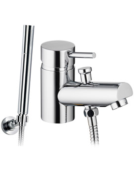 Xcite Mono Bath-Shower Mixer Tap With Handset And Hose