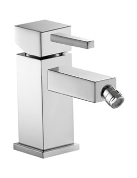 Sq2 Single Lever Bidet Mixer Tap With Clicker Waste - SQBID