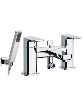 Flite Bath-Shower Mixer Tap With Handset And Hose - FLBSM