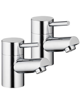 Xcite Pair Of Bath Pillar Taps - XC34