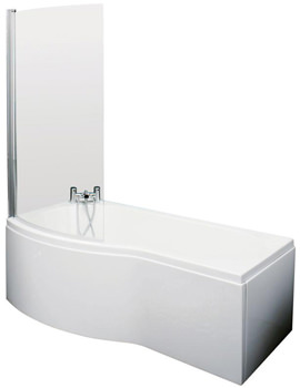 Related Ultra Crest 1700mm Left Hand Shower Bath With Screen And Side Panel