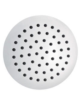 Slimline Stainless Steel Round Shower Head 200mm - KI075