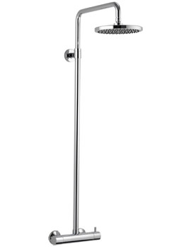 Levo Thermostatic Bar Valve With Rigid Riser Rail And Shower Head