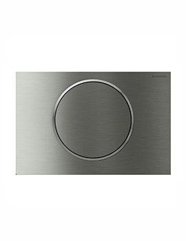 Geberit Sigma10 Mains Operated Dual Flush Plate - Stainless Steel