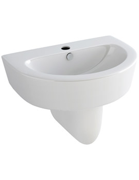 Arco 610mm 1 Tap Hole Basin And Half Pedestal - L1088-P1072A