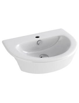Arco 550mm Semi Countertop Basin With 1 Tap Hole - LS1088