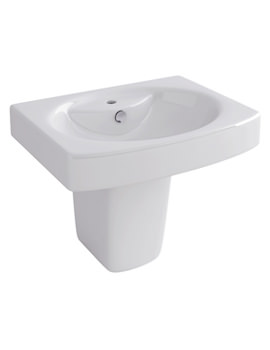 Dekka 550mm 1 Tap Hole Basin And Half Pedestal