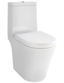Arco Open-Back Close Coupled WC Bowl With Cistern And Seat 660mm