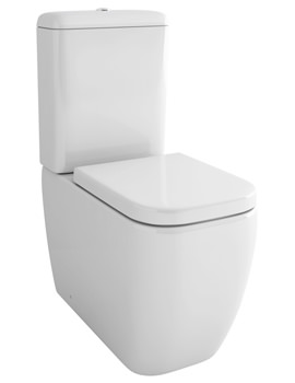 Pura Essence Close Coupled WC Bowl With Cistern And Soft Close Seat 660mm