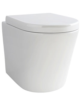 Pura Arco Back-To-Wall WC Bowl And Soft Close Seat 520mm