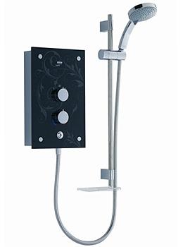 Galena Electric Shower 9.8kW Black Flock - 1.1634.083