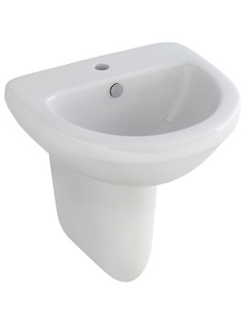 Ivo 500mm Compact 1 Tap Hole Basin And Half Pedestal