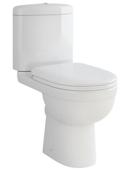 Pura Ivo Compact Close Coupled WC With Dual Flush Cistern 610mm