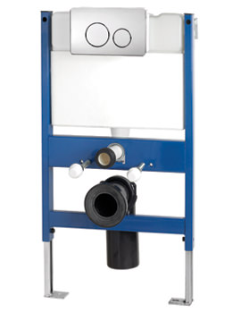 Reduced Height Wall Hung WC Frame System With Front Dual Flush Plate