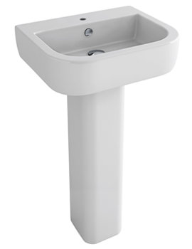 Essence 560mm 1 Tap Hole Basin And Full Pedestal