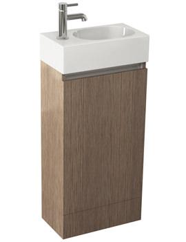 Related Pura Echo 400mm Soft Oak Single Door Floor Standing Unit And Basin