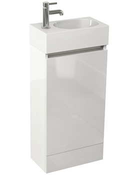 Echo 400mm White Gloss Single Door Floor Standing Unit And Basin
