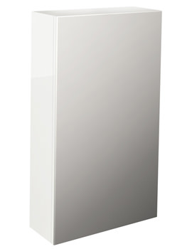 Echo White Gloss Finish Single Door Mirror Cabinet 400mm