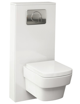 Echo Gloss White Finish WC Cistern Frame Furniture Cover 500mm