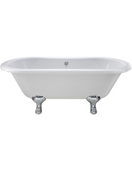 Ultra Blenheim Double Ended Freestanding Bath With Feet 1500 x 745mm