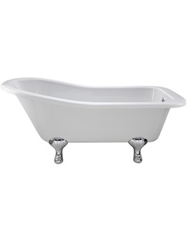 Ultra Mansfield Slipper Freestanding Bath With Feet 1500 x 730mm
