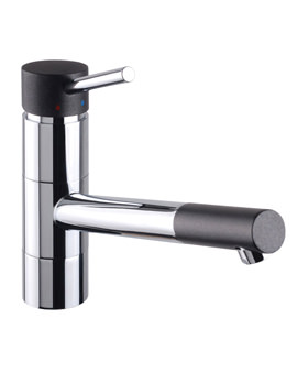 Rota Kitchen Sink Mixer Tap Chrome Black - KIT187