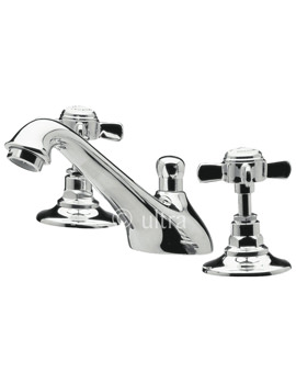 Beaumont 3 Hole Deck Mounted Basin Mixer Tap With Pop-Up Waste