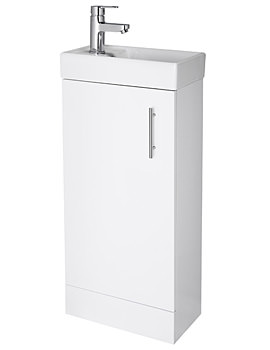 Related Lauren Minimalist Compact Gloss White Floor Standing Basin Unit 400mm